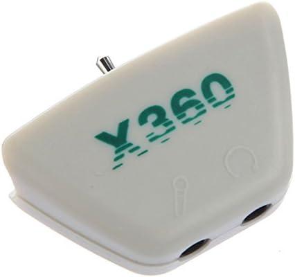 3.5mm Adaptador Audio Converter Plug Conversor enchufe de audio digital para Xbox 360 Headset Micrófono auricular: Amazon.es: Videojuegos