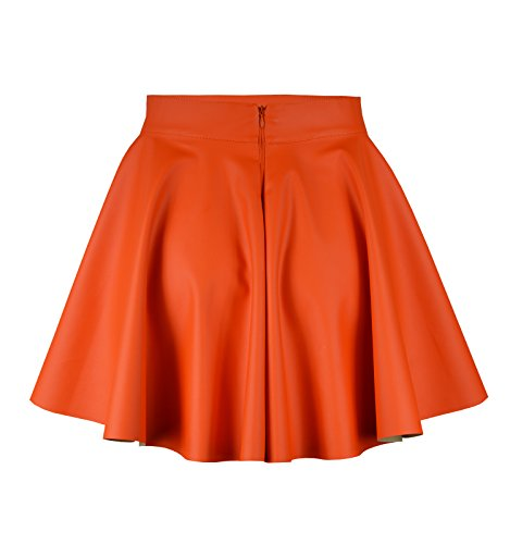Roban Fashion Mini Trapze Femme Jupe Orange qHwqRTg