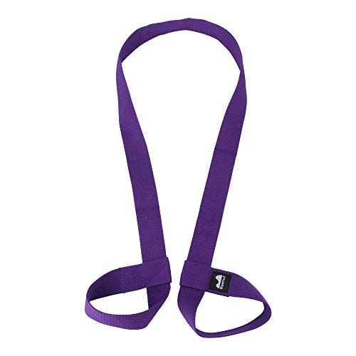 REEHUT Yoga Mat Strap, Adjustable Yoga Mat Carrier Holder for Carrying, Doubles As Yoga Strap for Stretching-Durable/Cotton Yoga Mat Slings (Yoga MAT NOT Included) - Purple Durable Adjustable Carrying Strap