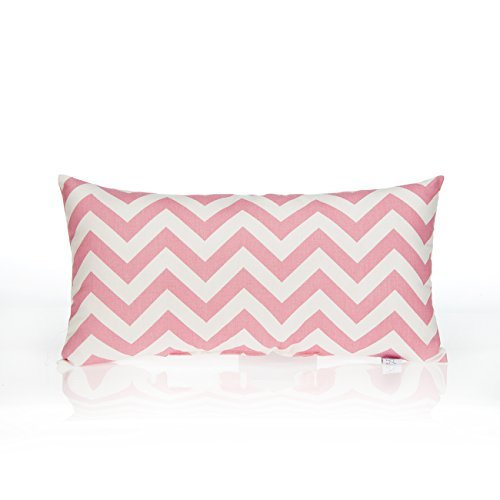 Sweet Potato Swizzle Chevron Rectangle Pillow, Pink/White by Sweet Potatoes [並行輸入品]   B014N71W16