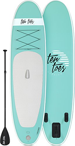 Ten Toes 10' Weekender Inflatable Stand Up Paddle Board Bundle, Seafoam - 2016