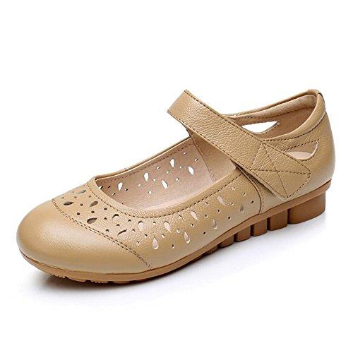 Piso Antideslizante Con Sandalias Verano Mujer Zapatos Cómodo Y Suave. Amarillo