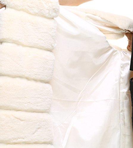 Classic Autumn Warm Long Faux Women' Vests Gilets Winter Fur Beige vogueearth qxTwBB
