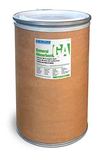 Chemsorb Ga - General Absorbent - 30 gal. Drum, SP30GA-L30D, Universal Absorbent, Light Weight Spill Response. Silica Free, Absorb: Oil, Grease, Chemicals, Pesticides, Solvents, Diesel -
