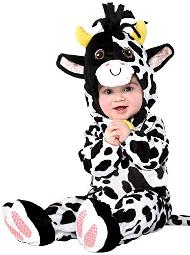 Baby Boys Girls Cute Mini Moo Cow Farmyard Animal Book Day Carnival Fancy Dress Costume Outfit 6-24 Months ... (12-24 Months)]()