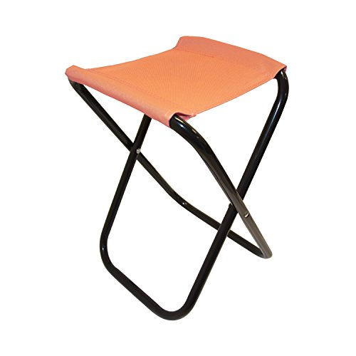 Orange Outdoor Folding Chairs (ALEKO CS02OR Outdoor Foldable Camping Chair Fishing Stool Portable Hiking Beach Travel Seat, Orange)