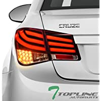 Topline Autopart Red LED Red Clear Rear Tail Lights Lamps...