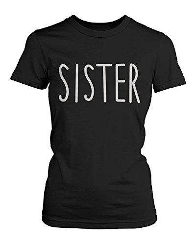love Bonitas Camisetas a Juego de algodón Negro y Blanco para Hermanas: Amazon.es: Ropa y accesorios