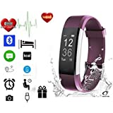 Fitness Tracker by Torus Pro | Smart Watch, Fitness Watch, Mens Watch, Weight Loss | Get Fit and Stay Fit |Heart Rate Monitor, Pedometer, Watch, Sleep Monitor, Sleep Tracker, Activity Tracker, Fitness, Bluetooth, Calorie Counter, Wrist Heart Rate Monitor, Fit Bit, Digital Watch, Best Heart Rate Monitor, SMS and Call Reminder plus Sleep Monitoring, Wireless Phone App, Long Battery Life Dependant on Usage, Heart Rate Wristband Compatible with IOS and Android | Outdoor Smart Watch for Men and Women