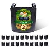 Gardzen 20-Pack 3 Gallon Grow Bags, Aeration Fabric