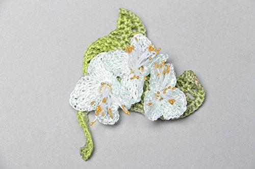 Crochet Flower Brooch - 8