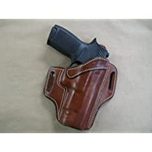 Sig Sauer P 250 / 320 Full Size OWB Leather 2 Slot Molded Pancake Belt Holster CCW TAN RH