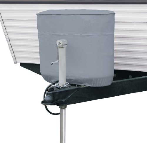 Classic Accessories 80-099-141001-00 RV Propane Tank Cover, Grey, Fits Dual 20 - 5 Gallon Tanks