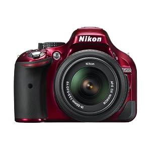 Nikon D5200 CMOS DSLR with 18-55mm f/3.5-5.6 AF-S NIKKOR Zoom Lens (Red) (Discontinued by Manufacturer)