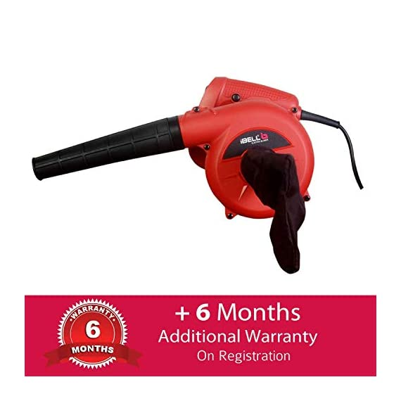 iBELL Air Blower 600W, Copper Rotor, RPM 14000, Blow Rate 3.3M/Min with Vacuum dust Collecting Bag, Professional Quality,Variable Speed Control 2