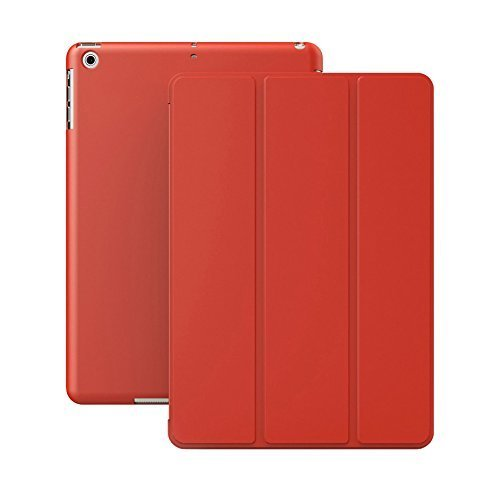 KHOMO iPad Mini 1 2 3 Case - DUAL Series - ULTRA Slim Red Cover with Auto Sleep Wake Feature for Apple iPad Mini 1st, 2nd and 3rd Generation