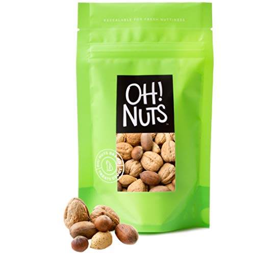 Shell Nut - Mixed Nuts Large Raw in Shell, Jumbo Seasonal in Shell Nuts Mix - 2 Pound Bag (32 Oz) - Oh! Nuts