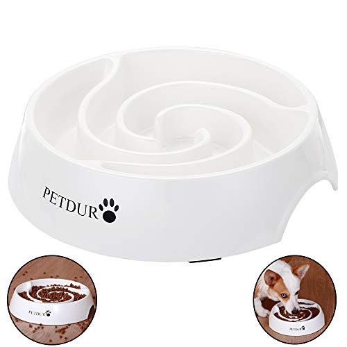 PETDURO Slow Feed Dog Bowl Large 9.75 inch with Food Capacity of 14 oz, Durable...