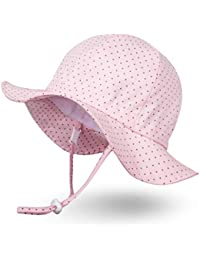 0505a5ba27d Unisex Child Adjustable Wide Brim Sun Protection Hat UPF 50 Sunhat for Baby  Girl Boy Infant