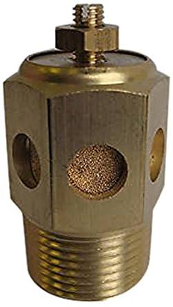 Sintered Bronze MettleAir BSC-N04 Pneumatic Speed Control Silencer Valve Pack of 10 1//2 NPT