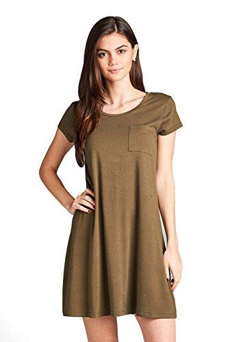 olive military dress - 2