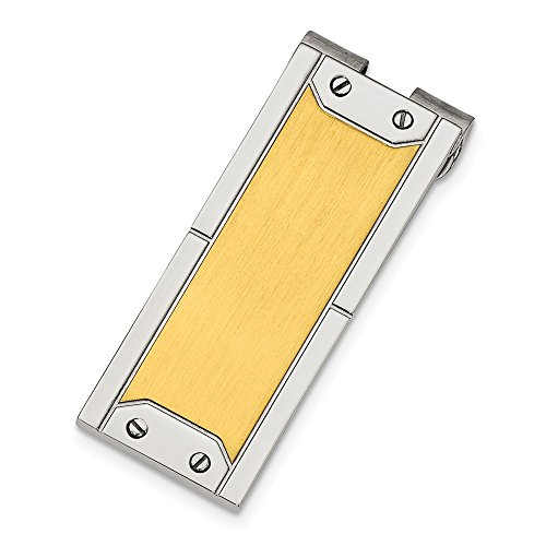 Yellow x Polished Money 40mm Steel 18mm IP Stainless plated and Brushed Clip tIfyqv