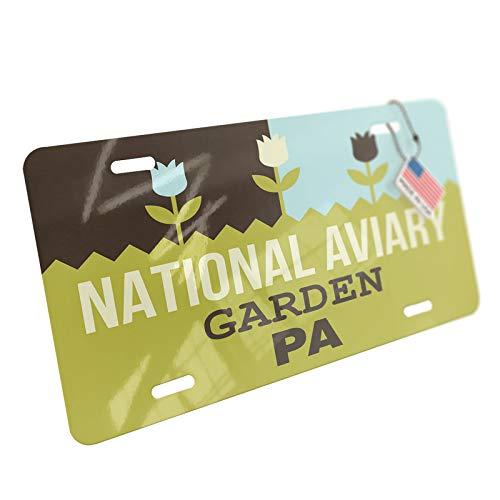 - NEONBLOND US Gardens National Aviary Garden - PA Aluminum License Plate