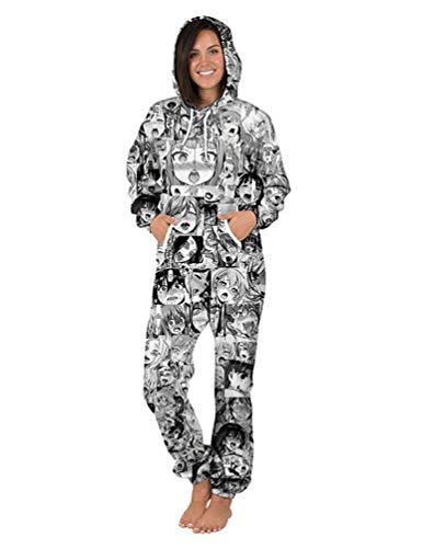Sweat Brinny Capuche Un Femme Tout Une 4 Hommes Élégant En Zip Stil Halloween Pyjamas 3d Unisex À Pièce Jumpsuit Imprimés Onesie rSZr65W
