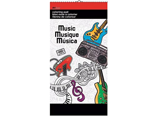 Music Small Coloring Pad - Pack of 72