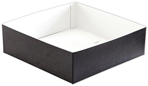 Patterned Gift Boxes - Black Swirl Hi-Wall Gift Box Bottoms, 10 x 10 x 3