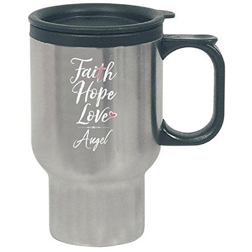 Faith Hope Love Angel First Name Christian Girl - Travel Mug by My Family Tee