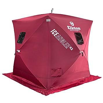 Elkton 3 person Ice Fishing Shelter Tent 36 Square Feet  sc 1 st  Amazon.ca & Elkton 3 person Ice Fishing Shelter Tent 36 Square Feet Shelters ...