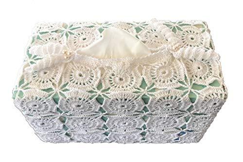 Handmade Crochet Kleenex Box Cover - Tissue Box Holder - Soft Cover