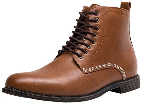 SHENBO Men's Brown Simple Boots