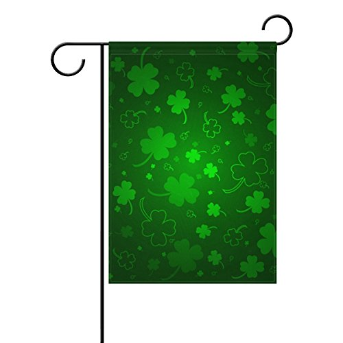 Cooper girl St. Patrick's Day Background With Clovers Garden