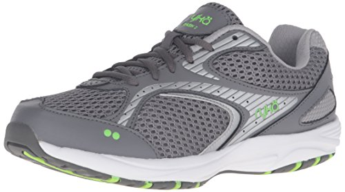 RYKA Women's Dash 2 Walking Shoe, Grey/Silver/Lime, 9 M - Returns Sport Hdo
