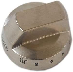 DG94-02141A OEM Samsung Burner Knob Stainless Steel