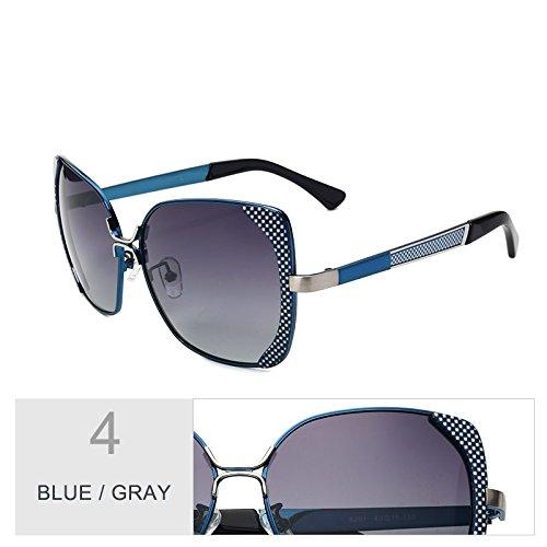 Sol Gray Enormes Metal Mujer Sol Azul De Mujer Unas De Blue Butterfly De Gafas De Gafas Polarizadas Rojo Uv400 Gris Bastidor TIANLIANG04 Gafas Mujer PwxqXgYEq