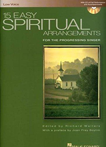 (15 Easy Spiritual Arrangements for the Progressing Singer: Low Voice )