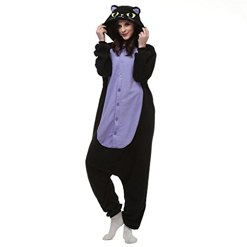 [Bettertime Unisex Warm Fleece Animal Sleepsuit Adult Pajamas Cosplay Onesies] (Cat Costume Ideas Adults)