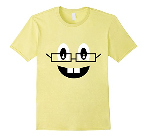 Nerd Costume Ideas (Mens Nerds Emoji Face Costume T-Shirt for Halloween Group Team Large Lemon)