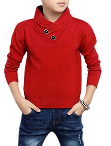uxcell-boys-shawl-collar-buttons-decor-knit-shirt-allegra-kids-red-14