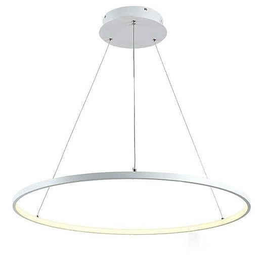 LED HONGOU Colgante De Redondo LIGHT Lámpara 50W Anillo H2ED9I