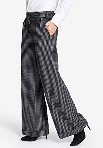 Khujo Cuadros Kariert blau Mujer Relaxed Pantalón Grau Para qE0TEr