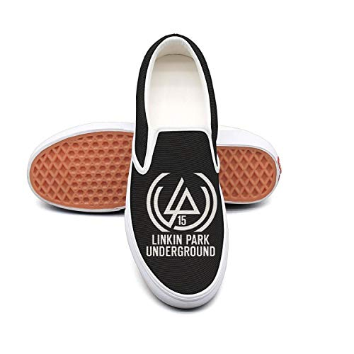 Authentic Pearl Jam - Dolorexri Linkin-Park-15th-anniversary- Womens Canvas Slip-on Fashion Sneaker Skate Shoe