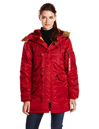 Amazon.com: Alpha Industries Women's N-3B Slim Fit Flight Nylon ...