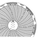 Graphic Controls Circular Chart C206, 7 Day, 4.531' Diameter, Range (-22 to 122), Box of 60 Charts
