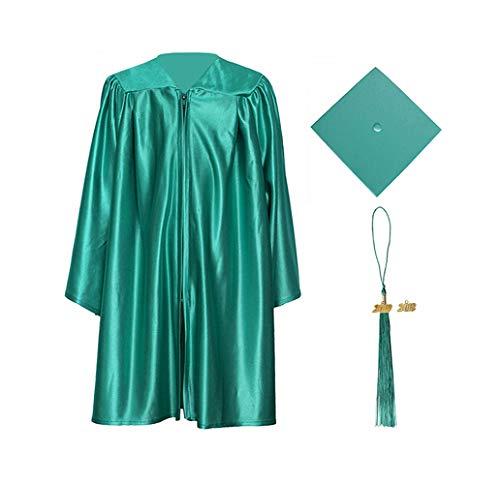 Cap Green Cloth (GraduationForYou Shiny Kindergarten Gown Cap Tassel 2018+2019)