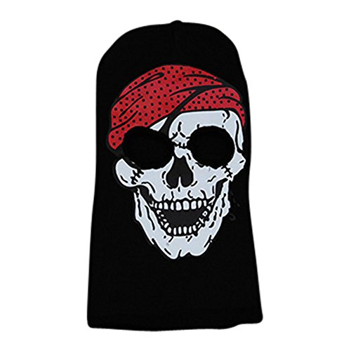 Spooky Boy Girl Ski Face Mask Beanie Costume Halloween Headwear (Pirate Headwear)
