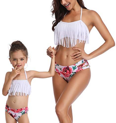8868b8d2d4a Toddler Kids Baby Girls Bikini Swimsuit Set Family Matching Mother Girl  Swimwear (Girl 4-